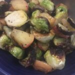 roasted brussel sprouts ready for eating!